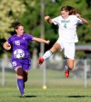 Rocky's Jaelene Zygmond kicks the ball