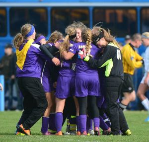 First-half goals propel Laurel girls to first Class A soccer championship