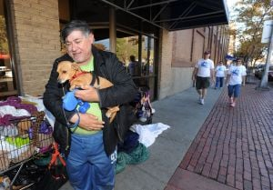 Walkers take to the downtown streets to help the poor