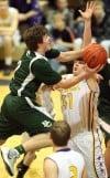 Central's Jacob Stanton, 2, and Laurel's Zach Allen, 0, battle for the ball