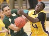 Rocky's Sergio Trocha, 34, battles Bellevue's Ousseynou Diop for the ball