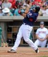 Mustangs Carlos Sanchez shatters his bat