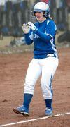 Baylee Hrubes celebrates a home run