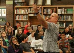Comedian gives lip to bullying at Riverside peformance