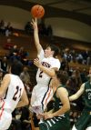 Jorey Egeland of Senior hits a bucket