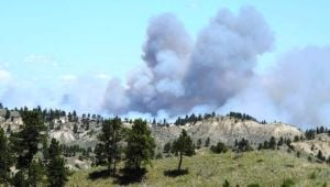 Fire burns 1,300 acres west of Jordan