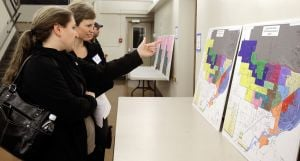 Public scrutinizes latest SD2 school boundary options at forum