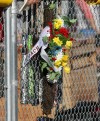 Flowers in memory of Greg Chirrick