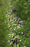 Runners make their way