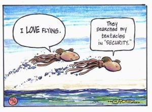 Outdoors just for kids: Flying squid are trying to avoid predators