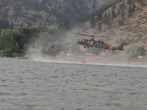 Fire near Holter Lake forces evacuation of campgrounds