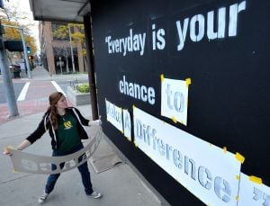 Downtown passers-by share sentiments on what makes for a better community