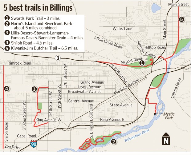 Bikers Runners Hit Billings39 Expanding Trail System