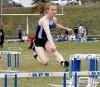Skyview's Hailey Copinga won the 300 hurdles