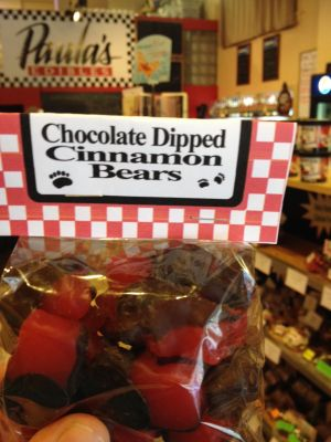Good Eats: Chocolate-Dipped Cinnamon Bears at Paula's Edibles