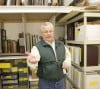 Chas Weldon talks about a secured storage and work room