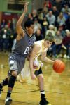 Kendal Manuel of Skyview pressures Christian Kappel