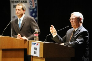Hill, Bullock debate focuses on economic development