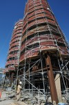 Workers add insulation at the Billings ConocoPhillips Refinery