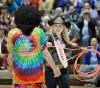 Miss Rodeo Montana Alyson Grinestaff of Bozeman ropes a buffalo dur