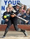 West's Rachael Dillon at bat