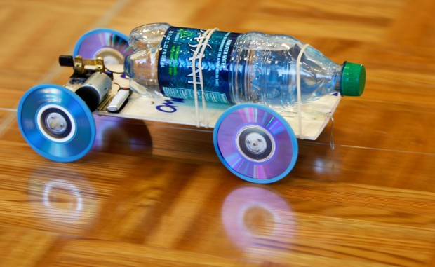 Fast Learning Students Race Homemade Cars Test Science