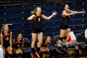 Friday action from state volleyball in Bozeman