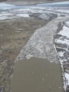 Breaking ice jams up on Yellowstone River