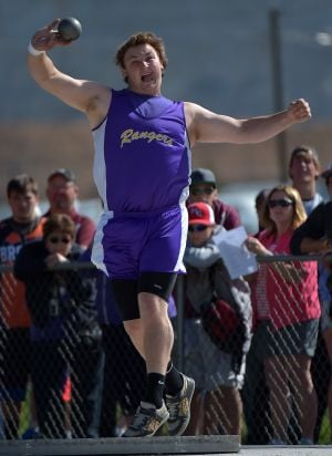 Emter wins shot put title with state-record throw