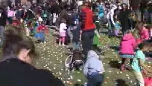 Kids on the run for Easter Eggs in Billings