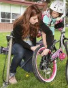 Bike to School week starts out with tune-up