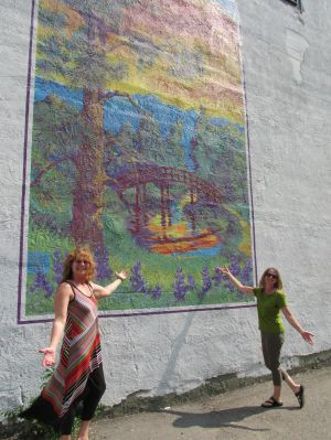 New mural goes up at Limber Tree Yoga