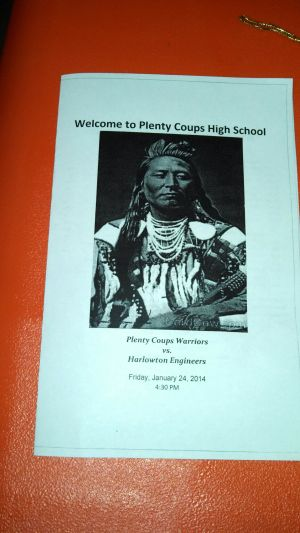 Plenty Coups honors Dusty Taber and Ieshia Crooked Arm