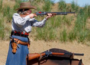 Bang-clang or bang-dang: Wild West fans get into cowboy action shoot
