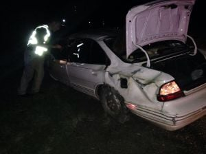 Man taken to hospital after rollover on I-90