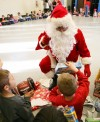 Santa Claus visits students