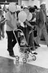 Families at Rimrock Mall grand opening, 1975
