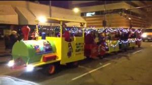 Watching the Holiday Parade in downtown Billings