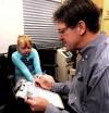 Dr. Kevin McBride examines Aleeah Shoffner