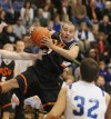 Scotty Owens of Billings Senior grabs a rebound