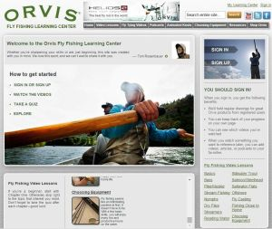 Orvis website offers fly fishing lessons