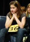 Seventh-grader Bethany Honcoop waits for her next word
