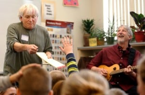 Musicians sit with grade-schoolers, teach songwriting
