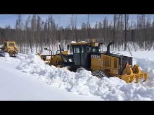 Yellowstone Park Plowing