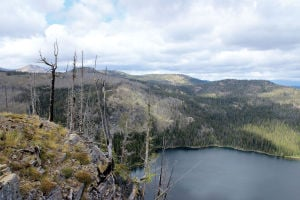 Boulder Lake: Lake sits on quieter side of Rattlesnake