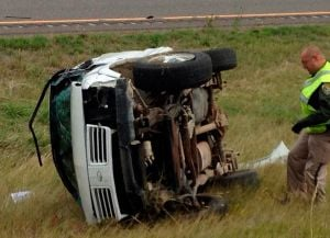 Westbound lanes of I-90 blocked while MHP investigates fatal rollover