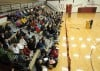 Sidney residents gather in the Sidney High School gymnasium