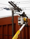 Crews respond to burning power pole in downtown Billings