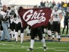 Brock Coyle of Montana waves a Griz flag