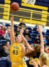 MSUB's Kayleen Goggins shoots a lay-up